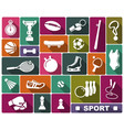 sports icons in flat style vector image vector image