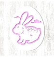 stencil of an egg silhouette with buny vector image vector image