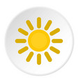 sun icon circle vector image vector image