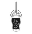 takeaway cold brew coffee vector image