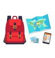 things for traveling set color vector image