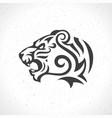 tiger face logo emblem template mascot symbol vector image