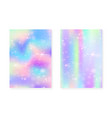 unicorn background with kawaii magic gradient vector image