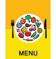 Vegetables in dinner vector image