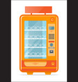 vending machine with empty shelves icon vector image vector image