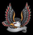 vintage eagle logo vector image vector image