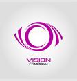 vision eye logo vector image