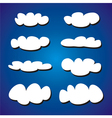 White clouds on blue sky background set vector image