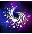 White Swirl of White Comets vector image
