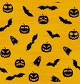 halloween orange festive seamless pattern endless vector image