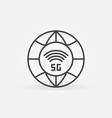 5g global communication network concept outline vector image vector image