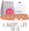 A Bakers Life vector image vector image