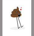 a piece turd image is isolated on white vector image vector image
