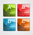 Abstract 3d square infographics template vector image