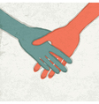 abstract handshake vector image vector image