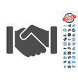 agreement handshake flat icon with free bonus vector image vector image