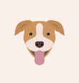 american pitbull terrier portrait vector image vector image