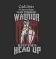 american warrior greatest battle vector image vector image