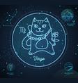 astrology neon virgo zodiac sign funny cat