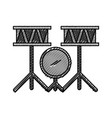battery drums instrument icon vector image vector image