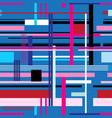 beautiful geometric pattern different stripes vector image vector image