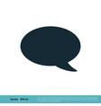 blank speech bubble icon logo template design eps vector image vector image