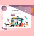 business website landing page design vector image vector image