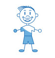 cartoon boy child young happiness image vector image vector image