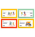 characters leaving comfort zone and relax in hotel vector image vector image