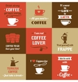 Coffee mini poster set vector image vector image