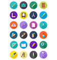 Color round design icons set vector image vector image