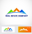 Colored house real estate logo vector image vector image
