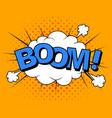 comics boom comic cartoon vector image vector image
