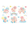 cute unicorn adorable character for kids birthday vector image