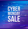 cyber monday discount sale banner vector image