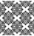 damask black and white seamless pattern vector image vector image