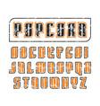 decorative sanserif font in retro style vector image vector image