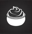dessert on black background vector image