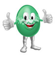 easter egg cartoon man vector image vector image