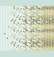 elegant gold and pale green leaf pattern vector image vector image
