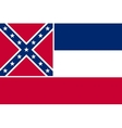Flag of Mississippi correct size colors vector image vector image