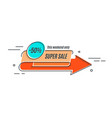 flat linear promotion arrow banner scroll price vector image vector image