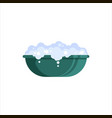 flat plastic basin with soap foam isolated on vector image vector image
