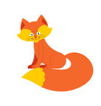 fox isolated cute wild animal on white background vector image vector image