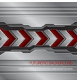 futuristic metallic background vector image