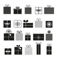 gift box icons set modern solid symbol vector image vector image