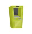 green cash dispenser automated teller machine atm vector image
