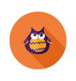 Halloween Owl Flat Icon over Orange vector image