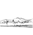 hand drawn of mountain vector image vector image