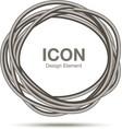 Hand Drawn Ware Circle logo design element vector image vector image
